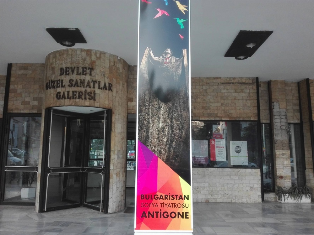 "The performance ""Antigone"" presented Bulgaria at the Balkan Breeze International Festival in Bursa, Turkey 26 March 2017"